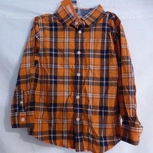 Gymboree size 5-6 years plaid button front shirt
